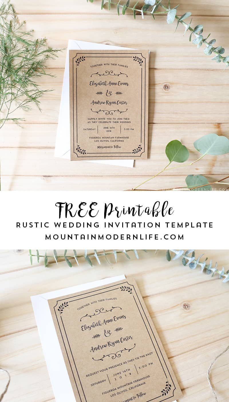 Free Printable Invitation Templates Free Printable Wedding Invitation Template