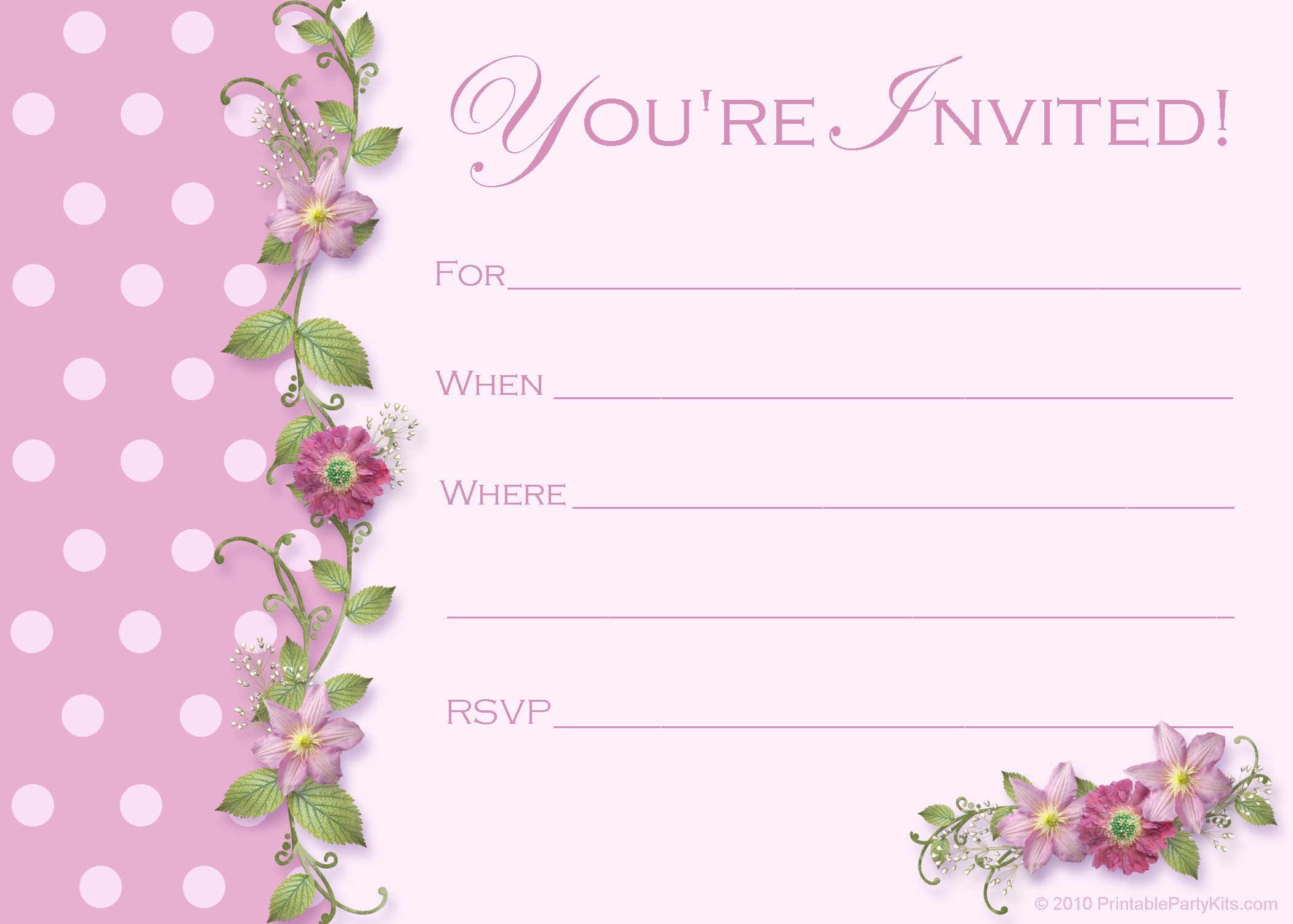 Free Printable Invitation Templates Free Sweet 16 Birthday Invitations – Free Printable
