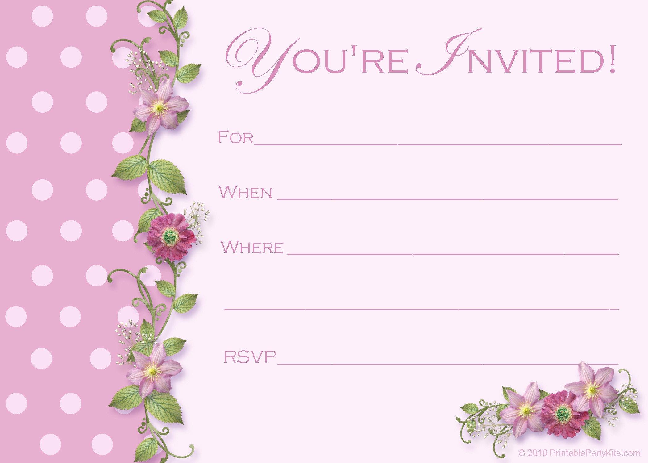 Free Printable Invitation Templates Free Sweet 16 Birthday Invitations – Free Printable