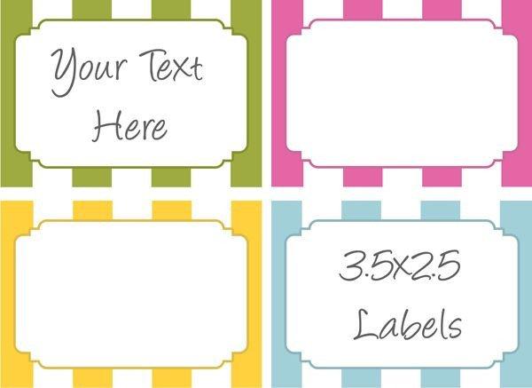 Free Printable Label Template Bake Sale Label Printables Bake Sale Ideas