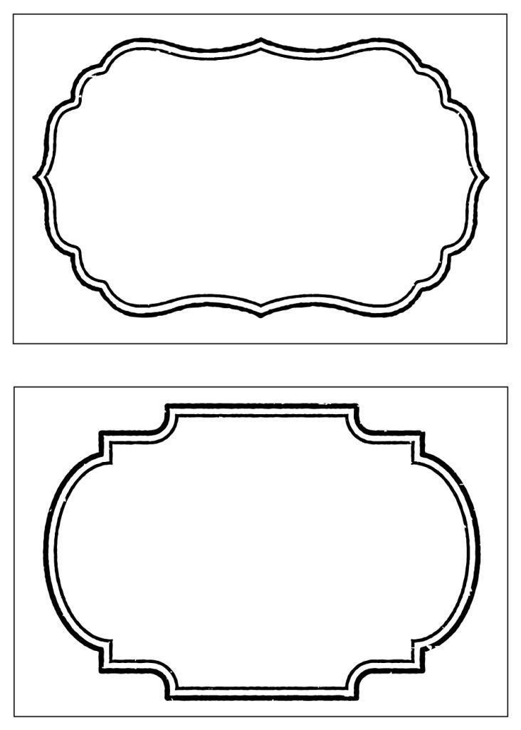 Free Printable Label Template Free Fancy Label Template Dgehjecuo