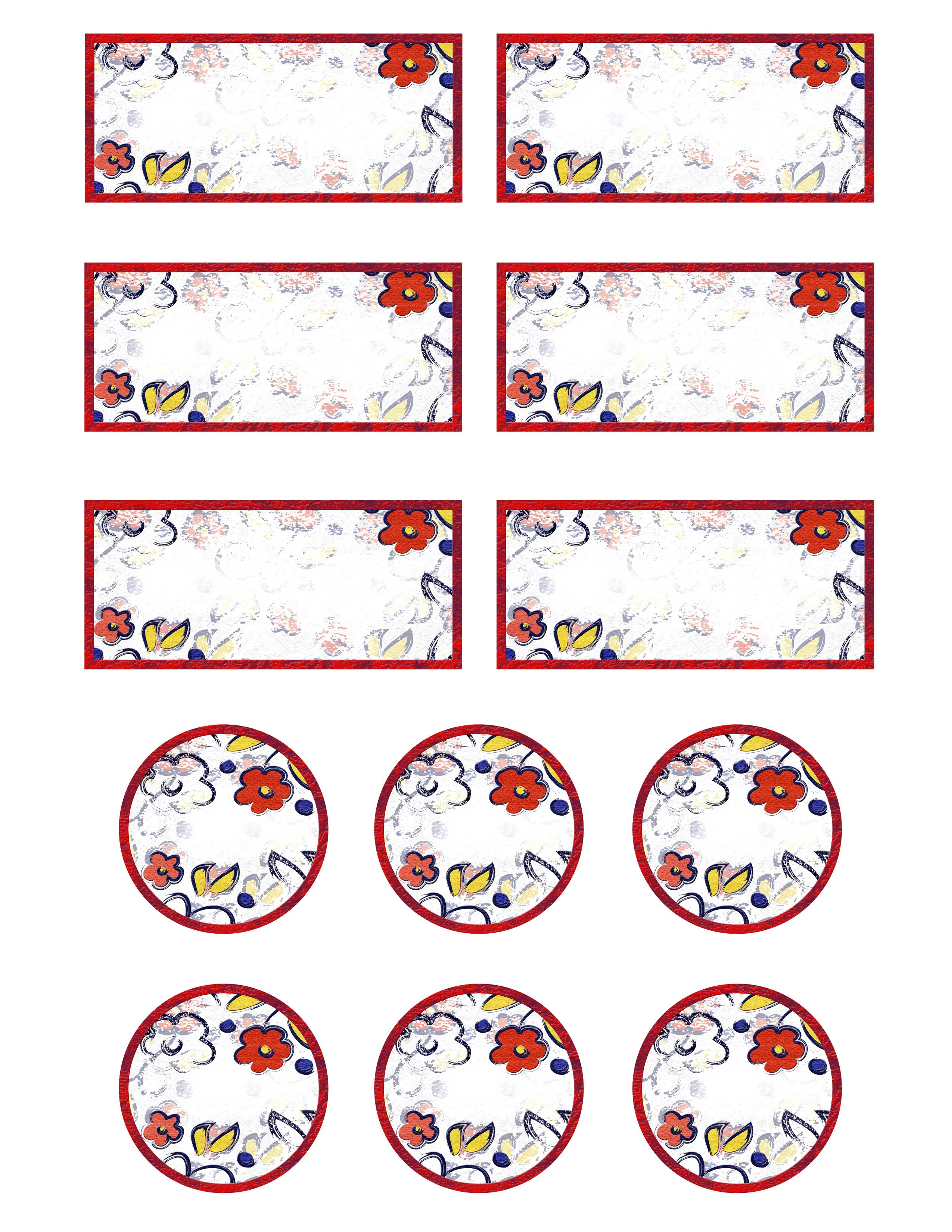 Free Printable Label Template Free Printable Jar Labels for Home Canning