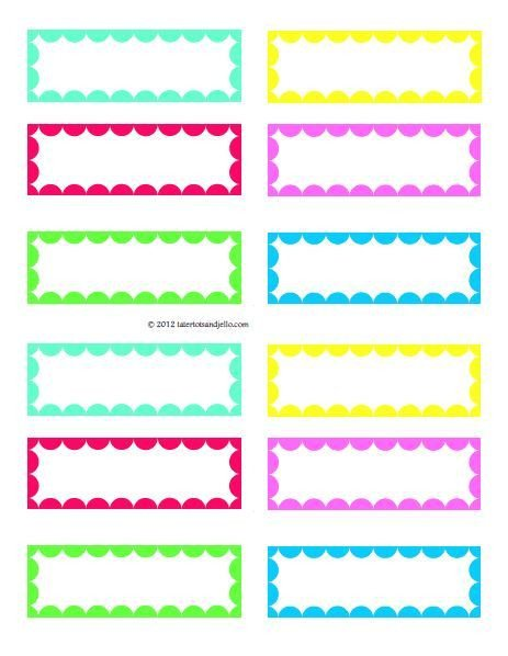 Free Printable Label Template Free Printable Labels for Ziplocs and Great for Lunch