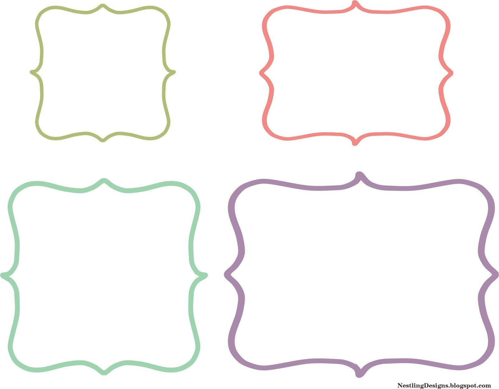 Free Printable Label Template Nestling Friday Freebie Diy Chalkboard Labels
