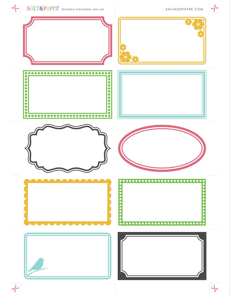 Free Printable Label Templates Printable Labels From Saltandpaper