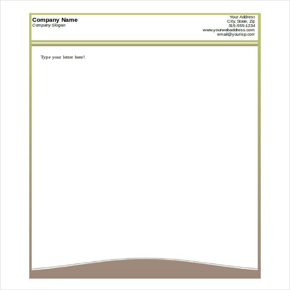 Free Printable Letterhead Templates 32 Free Download Letterhead Templates In Microsoft Word