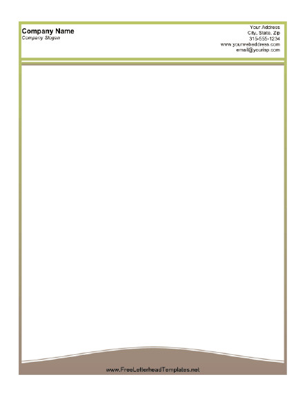 Free Printable Letterhead Templates A Printable Letterhead Design with A Thin Olive Green