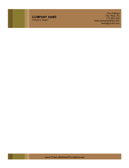 Free Printable Letterhead Templates Business Letterhead with Brown Background