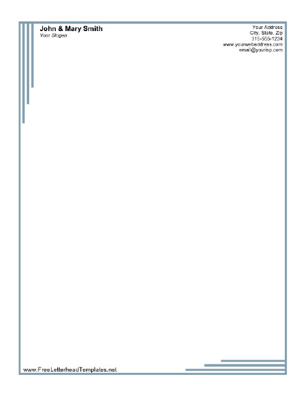 Free Printable Letterhead Templates formal Business Letterhead