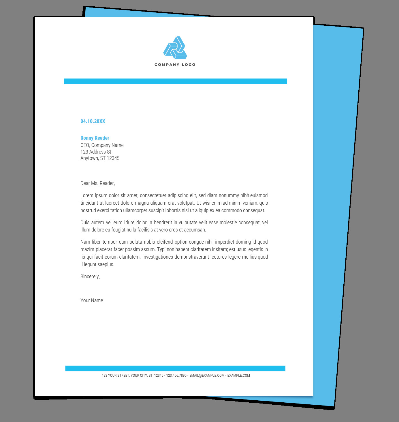 Free Printable Letterhead Templates Free Letterhead Templates for Google Docs and Word