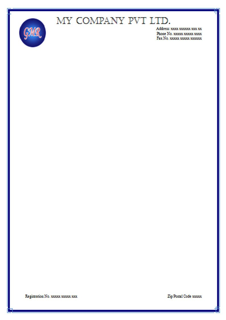Free Printable Letterhead Templates Letterhead Sample