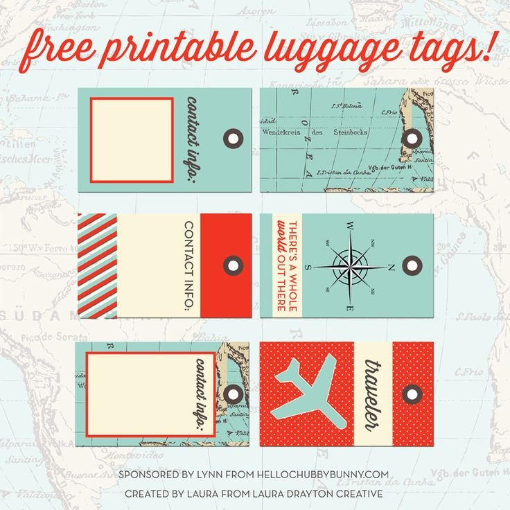 Free Printable Luggage Tags 33 Best Images About Printable