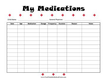 Free Printable Medication List Template 22 Of Resident Patient List Template