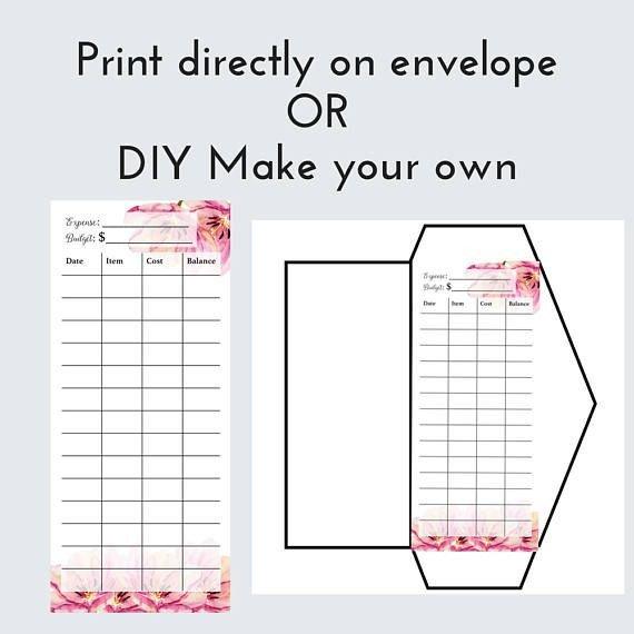 Free Printable Money Envelopes Diy Cash Envelope Printable Cash Bud Ing Template Dave