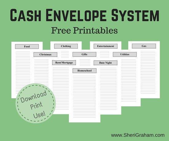 Free Printable Money Envelopes Free Printable Cash Envelope System Money Saving Mom