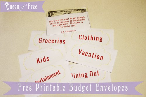 Free Printable Money Envelopes Free Printable Cash Envelopes Queen Of Free