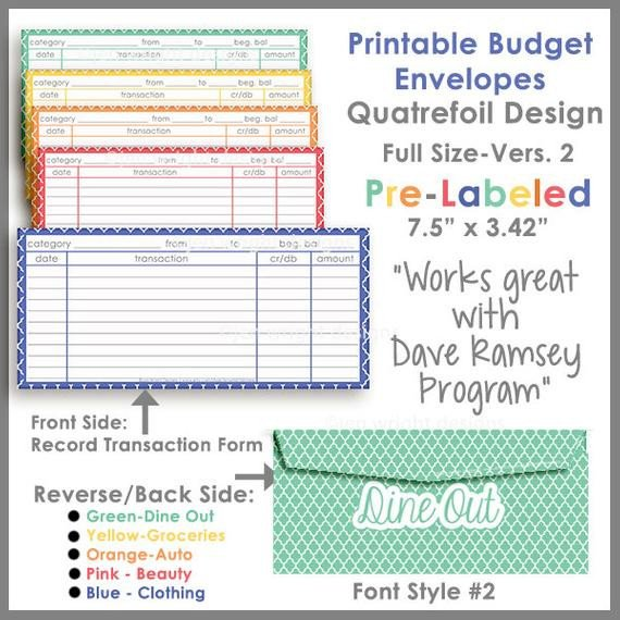 Free Printable Money Envelopes Items Similar to Quatrefoil Printable Cash Envelope Ver 2