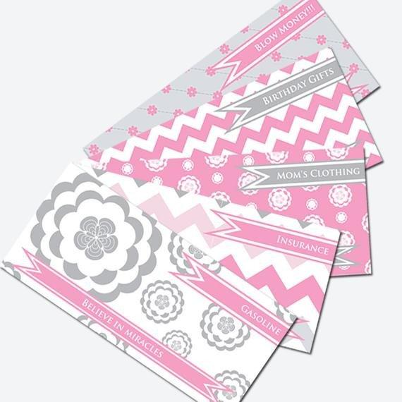 Free Printable Money Envelopes Printable Cash Envelope System Bud Helper Pink and