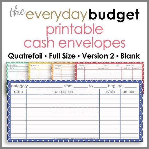 Free Printable Money Envelopes Quatrefoil Printable Cash Envelope Ver 2 Bud Ing System