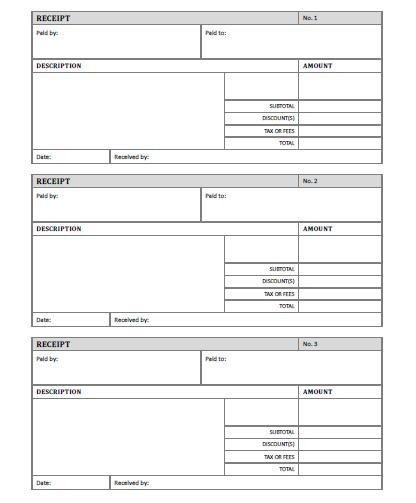 Free Printable Receipt Templates Receipt Template Free Printable Allfreeprintable