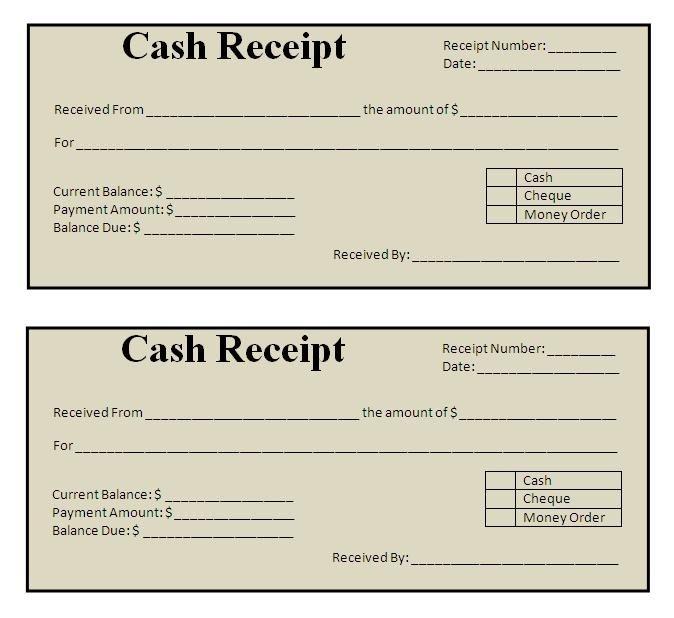 Free Printable Receipt Templates Receipt Templates