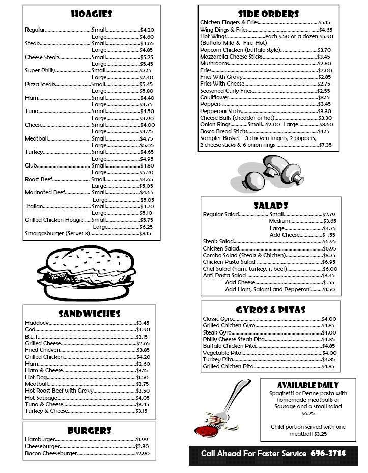 Free Printable Restaurant Menu Templates Box Lunch Menu Template