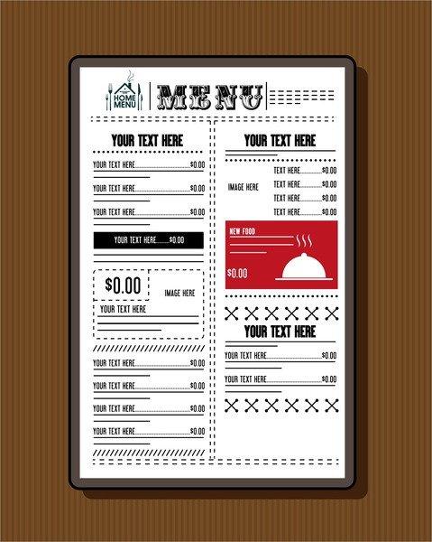 Free Printable Restaurant Menu Templates Restaurant Menu Template Free Vector 19 437 Free