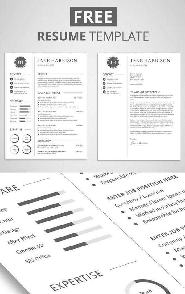 Free Printable Resume Templates 15 Free Elegant Modern Cv Resume Templates Psd