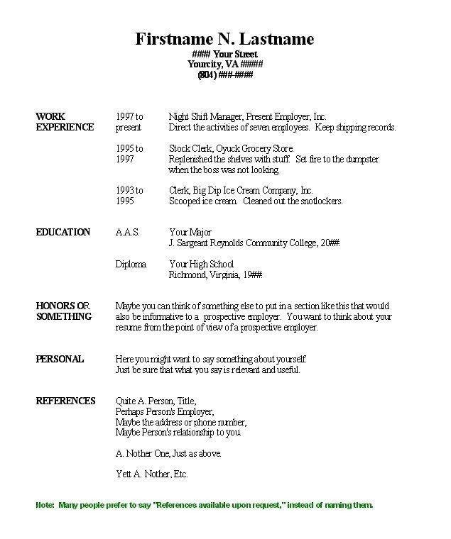 Free Printable Resume Templates Free Blank Resume Templates for Microsoft Word Image