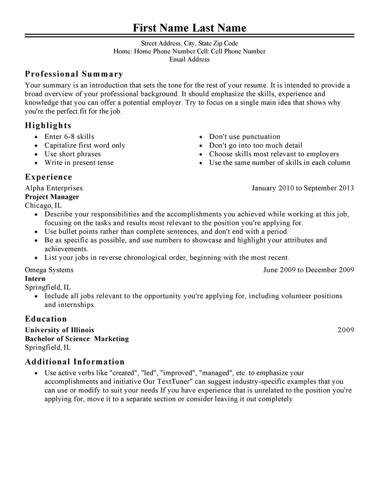 Free Printable Resume Templates Free Professional Resume Templates
