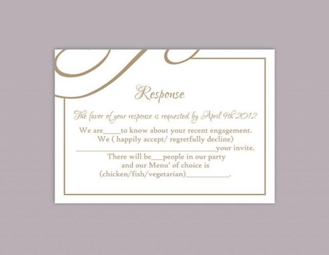 Free Printable Rsvp Cards Diy Wedding Rsvp Template Editable Text Word File Download