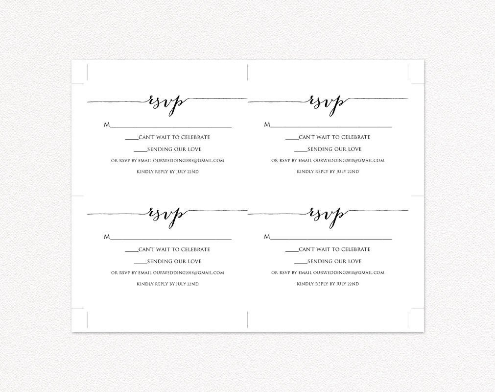 Free Printable Rsvp Cards Rsvp Card Printable Template · Wedding Templates and