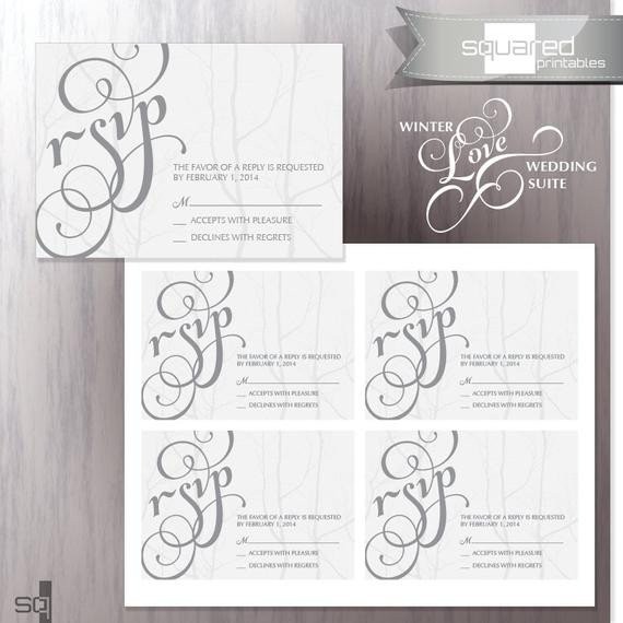 Free Printable Rsvp Cards Unavailable Listing On Etsy