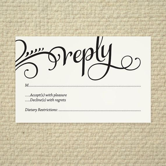 Free Printable Rsvp Cards Wedding Rsvp Love and Cherish Script Diy Printable