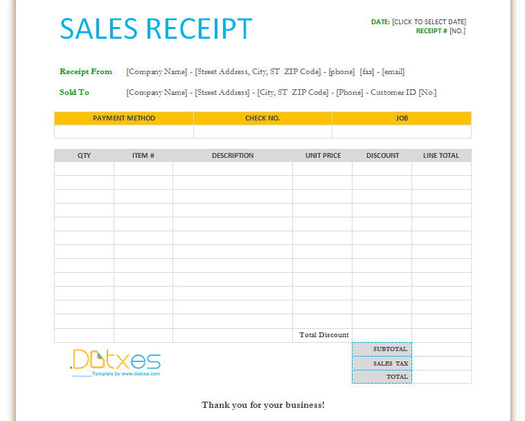 Free Printable Sales Receipt Template 17 Sales Receipt Templates Excel Pdf formats