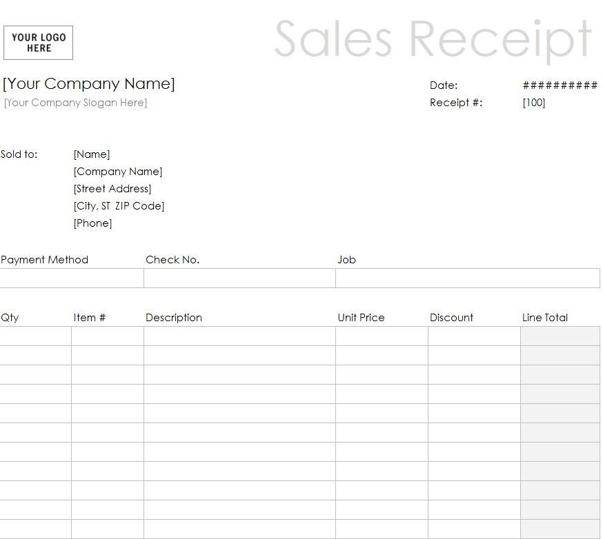 Free Printable Sales Receipt Template Printable Sales Receipt Template