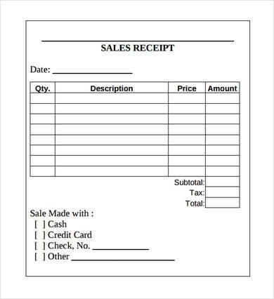 Free Printable Sales Receipt Template Sales Receipt Template Printable Receipt Template Excel