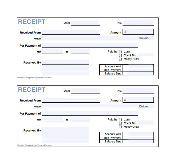 Free Printable Sales Receipt Template Sample Sales Receipt Template 19 Free Documents In Word