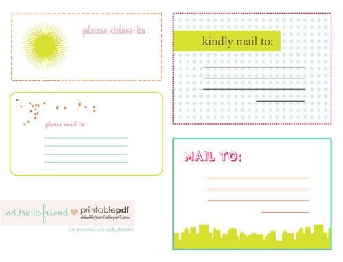 Free Printable Shipping Label Template Free Printable Cute Mailing Labels Freebies
