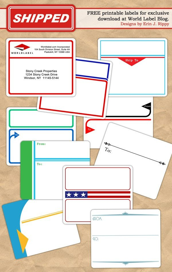 Free Printable Shipping Label Template Free Printable Labels & Templates Label Design