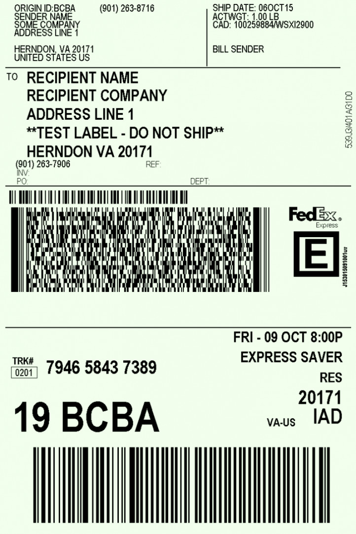 Free Printable Shipping Label Template Free Printable Shipping Label Template Word Pdf