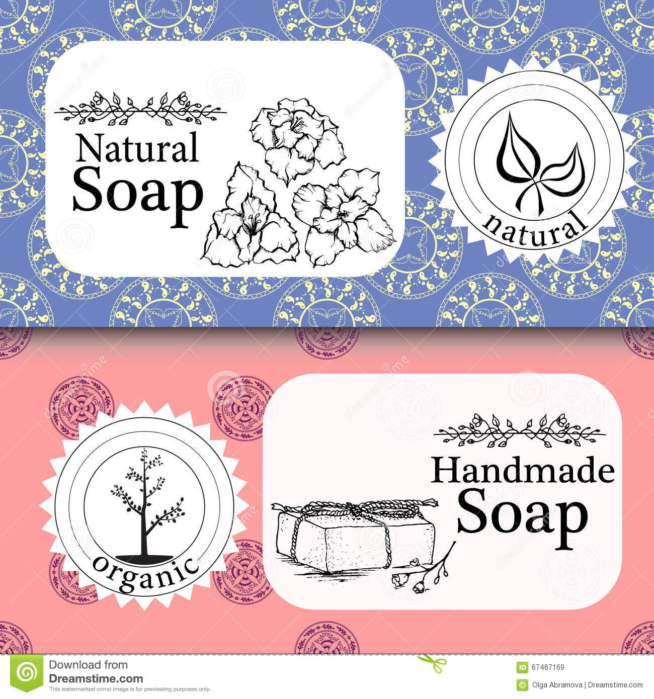 Free Printable soap Label Templates Handmade soap Label Template