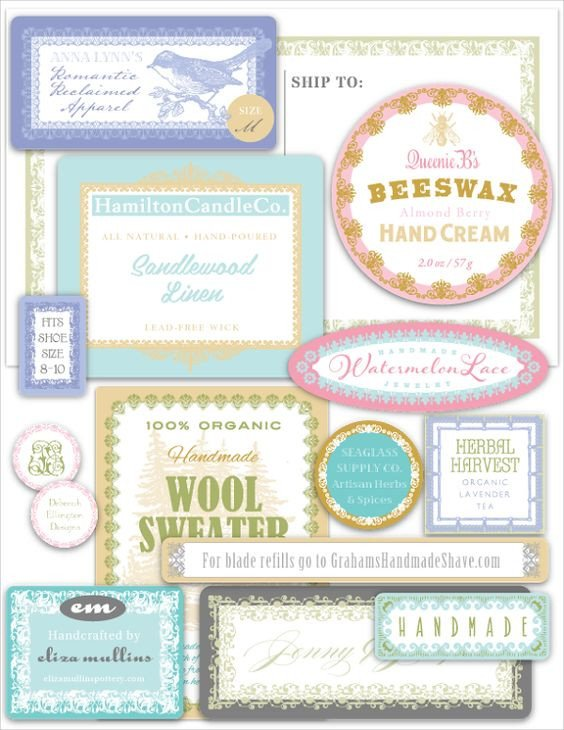 Free Printable soap Label Templates Pinterest • the World's Catalog Of Ideas
