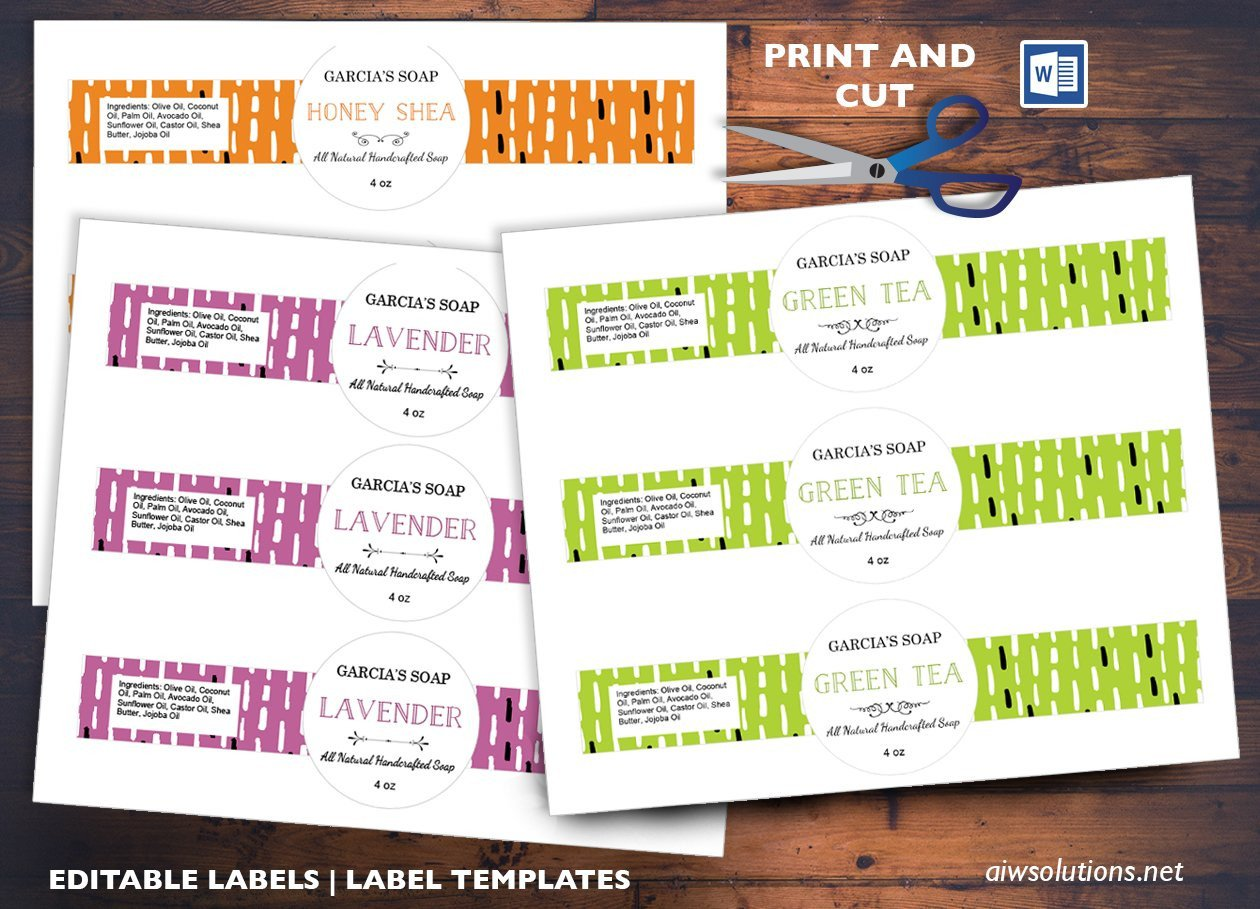 Free Printable soap Label Templates Round Center soap Band Label Id03 Stationery Templates