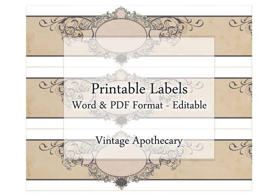 Free Printable soap Label Templates soap Labels Printable Apothecary Editable Label Band