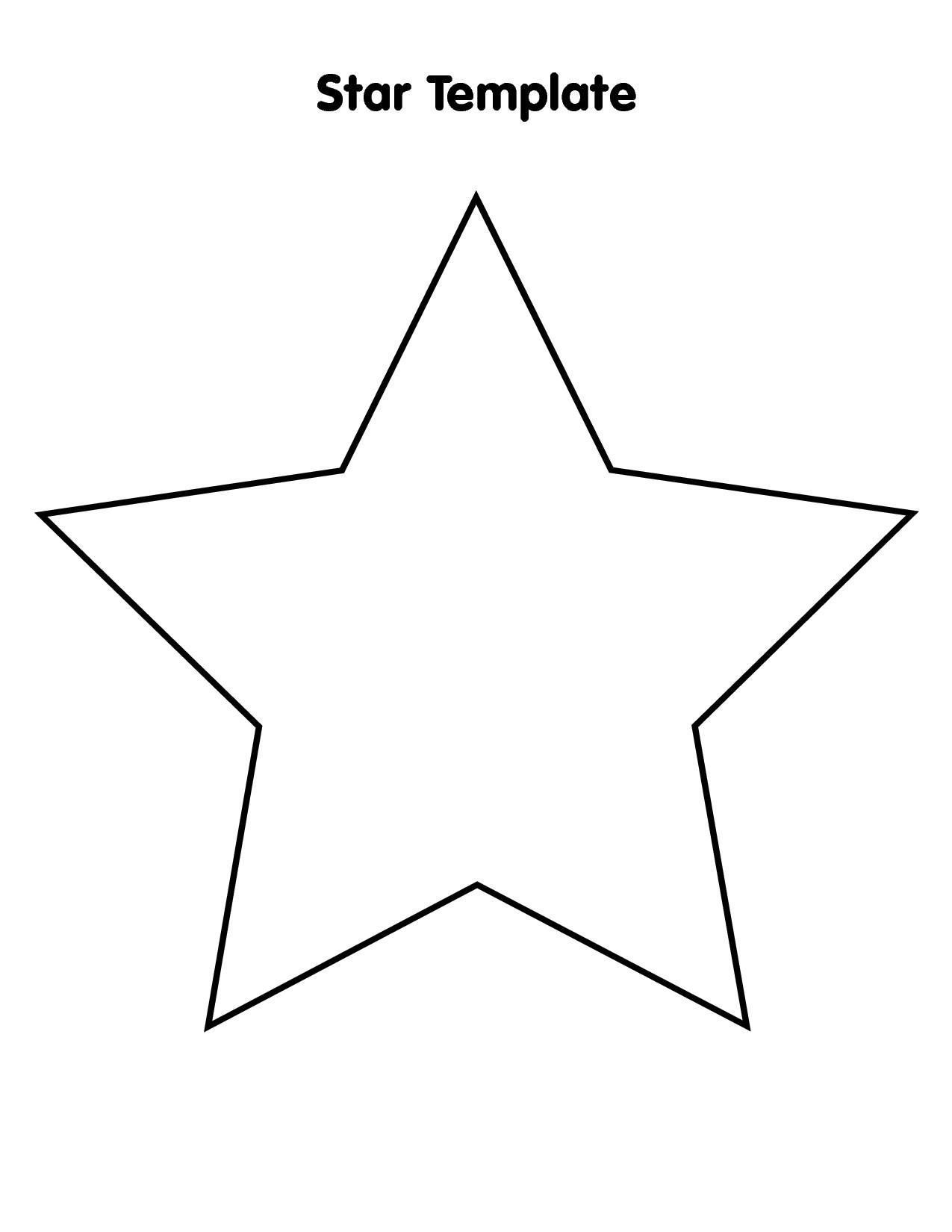 Free Printable Star Template 9 Best Of Big Star Template Printable Stars