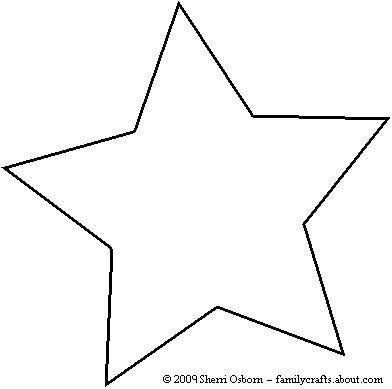 Free Printable Star Template Make Your Own Paper Christmas ornaments with these Fun