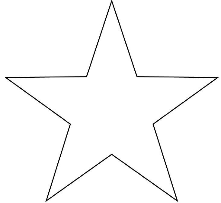 Free Printable Star Template Outline A Star Shape Clipart Best