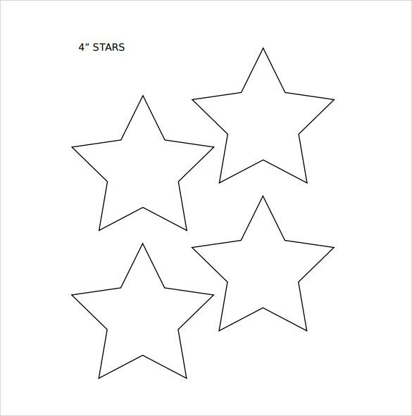 Free Printable Star Template Star Template 19 Download Documents In Pdf Psd Vector