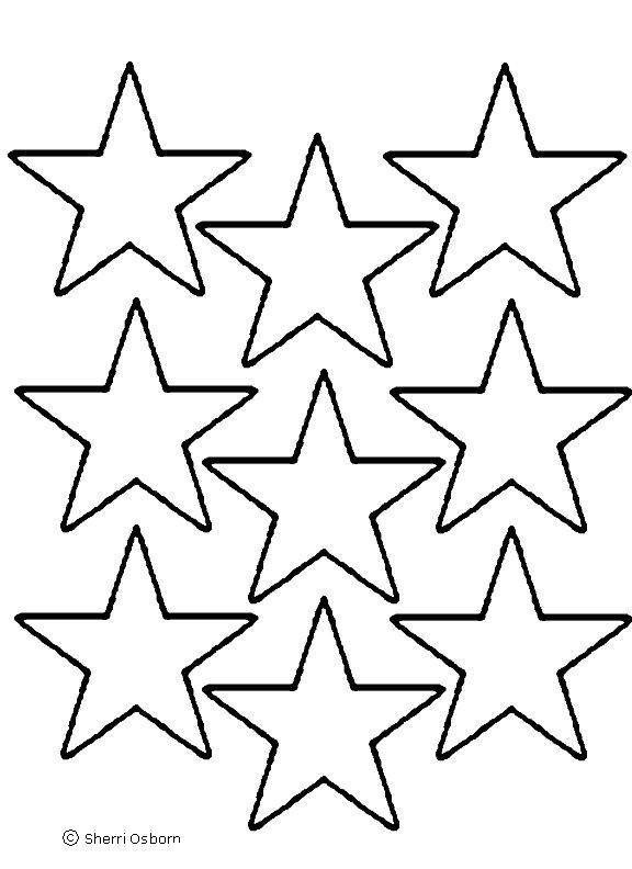 Free Printable Star Template Star Template Printable Cliparts